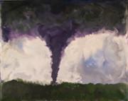 Encaustic - Tornado - Phoenix AZ - August 15 2004 by Marilyn Fenn