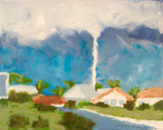 Encaustic Paintings - Tornado - Punta Gorda FL - July 15 2005 by Marilyn Fenn
