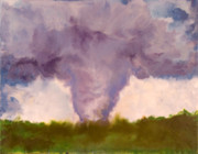 Encaustic Framed Prints - Tornado - Stoughton WI - August 18 2006 Framed Print by Marilyn Fenn