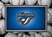 Baseball Bat Metal Prints - Toronto Blue Jays Metal Print by Joe Hamilton