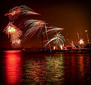 Nightlife Photos - Toronto fireworks by Elena Elisseeva