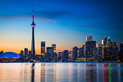 Architecture Photos - Toronto from Centre Island by Inge Johnsson