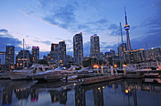 Toronto Harbour Evening Print by Charline Xia