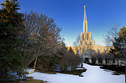 Hiver Prints - Toronto LDS Mormon Temple Print by Laurent Lucuix