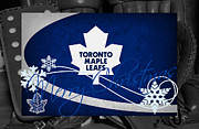 Maple Leafs Captain Prints - Toronto Maple Leafs Christmas Print by Joe Hamilton