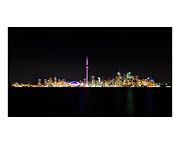 Metro Art Art - Toronto Skyline At Night From Centre Island by Brian Carson