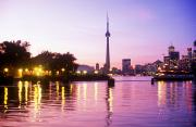 Symbolize Art - Toronto Skyline At Sunset, Toronto by Peter Mintz
