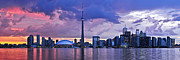 Lake Sunset Photos - Toronto skyline by Elena Elisseeva
