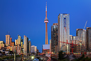 Architecture Photos - Toronto Skyline by Inge Johnsson
