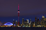 Lite Bright Prints - Toronto Skyline Print by Tony Beck