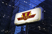 Toronto Transit Commission Prints - Toronto Subway Sign Print by Norman Pogson
