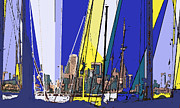 Port Credit Prints - Toronto Through The Masts Print by Ian  MacDonald
