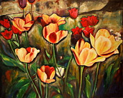 Toronto Artists Framed Prints - Toronto Tulips Framed Print by Sheila Diemert