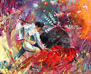 Bullfight Paintings - Toroscape 11 by Miki De Goodaboom