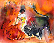 Bullfight Paintings - Toroscape 51 by Miki De Goodaboom