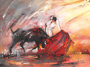 Bullfight Paintings - Toroscape 63 by Miki De Goodaboom