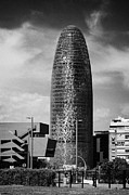 Torre Prints - torre agbar landmark skyscraper Barcelona Catalonia Spain Print by Joe Fox