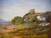 Lively Pastels - Torre de Benajarafe by Heather Harman