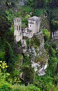 Erice Framed Prints - Torretta Pepoli Framed Print by RicardMN Photography