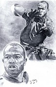 Torry Holt Print by Jonathan Tooley