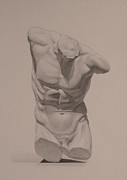 Naked Drawings Originals - Torso by Andrew Sandberg
