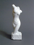 Marble Statue Sculpture Framed Prints - Torso Framed Print by Leslie Dycke