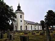 Photografie Framed Prints - Torstuna Kyrka church Framed Print by Leif Sohlman