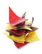 Crisp Metal Prints - Tortilla chips Metal Print by Elena Elisseeva