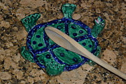 Whimsical Art Ceramics - Tortoise SpoonRest by Debbie Limoli
