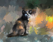 Tortoiseshell Prints - Tortoiseshell Kitten #1 Print by Jai Johnson