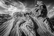 Black And White Paris Metal Prints - Tortured Earth #2 Metal Print by Joseph Rossbach
