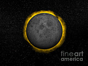 Solar Eclipse Digital Art Posters - Total Eclipse Of The Sun Poster by Elena Duvernay