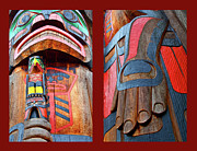 Canadian Photographer Framed Prints - Totem 2 Framed Print by Theresa Tahara