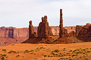 Monument Valley Framed Prints - Totem Pole Buttes Framed Print by Peter Tellone