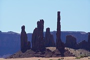 Dany Lison Framed Prints - Totem Pole in Monument Valley Framed Print by Dany Lison