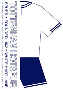 Home Football Game Posters - Tottenham Hotspur Premier League Football Club Poster by Neil Finnemore