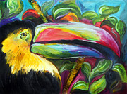 Toucan Paintings - Toucan by Melanie Alcantara Correia