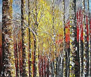 Pallet Knife Painting Originals - Touch of Gold by Shilpi Singh