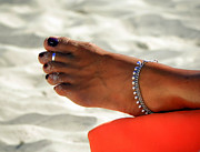 Bracelets Metal Prints - Touch of Sun Metal Print by Karen Wiles