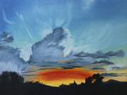 The Heavens Paintings - Touch the Sky by Jane Autry