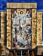 Indiana Autumn Framed Prints - Touchdown Jesus Framed Print by Carol M Highsmith