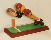Football Player Sculpture Framed Prints - Touchdown Framed Print by Russell Ellingsworth