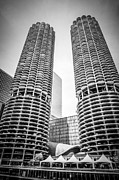 Condominiums Posters - Tour Boat on the Chicago River Poster by Paul Velgos