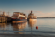 Cruise Metal Prints - Tour Boats Lake Geneva WI Metal Print by Steve Gadomski