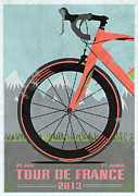 Armstrong Posters - Tour De France Bike Poster by Andy Scullion