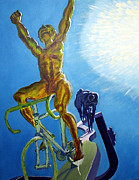 Le Tour De France Posters - Tour de France Sculpture II Poster by Frank Giordano