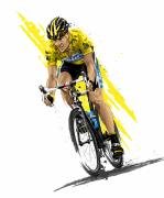 Cycling Art Metal Prints - Tour de Lance Metal Print by David E Wilkinson