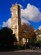 Tour St Jacques Paris Print by Louise Heusinkveld