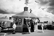 Republic Prints - Tourist Kiosk Shop Selling Ice Creams And Souvenirs In The Harbour At Courtown Print by Joe Fox