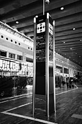 Catalunya Prints - Tourist Meeting Point Barcelona El Prat Airport Terminal 2 Catalonia Spain Print by Joe Fox